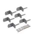 Equerre Lot de 6 + Vis Inox - D4 x 30 mm