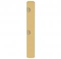Poteau d'extrémité rond 2 lisses - Diamètre 14 - 1m50