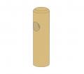 Poteau d'extrémité rond 1 lisse - Diamètre 14 -1m