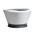 """Pot - Vasque """"IKONE"""" GM IK2 Dim. Ø 76,4 x 42,5 - Contenance 105 L - Blanc et Gris"""